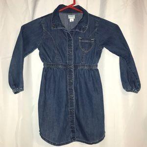 Button down jean dress Size 5T